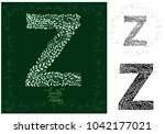 letter z made with decorative... | Shutterstock .eps vector #1042177021