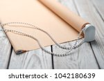 the rolled beige shutters is on ...   Shutterstock . vector #1042180639