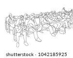 illustration of movie theater... | Shutterstock .eps vector #1042185925