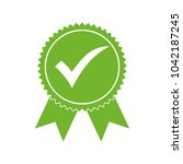 approved certified icon.... | Shutterstock .eps vector #1042187245