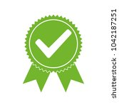 approved certified icon.... | Shutterstock .eps vector #1042187251