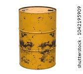 old rust metal barrel oil... | Shutterstock . vector #1042195909