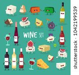 this is wine icon set. it is... | Shutterstock .eps vector #1042199539