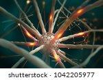neural networks. nanotechnology ... | Shutterstock . vector #1042205977