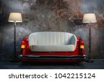 A Handmade Sofa And A Lamp On A ...