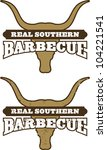 real southern barbecue symbol.... | Shutterstock .eps vector #104221541