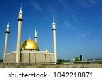 abuja's national mosque is the... | Shutterstock . vector #1042218871