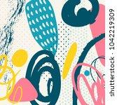creative doodle art header with ...   Shutterstock .eps vector #1042219309