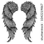 angel baroque wings   Shutterstock .eps vector #1042219867