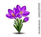 isolated vector illustration of ... | Shutterstock .eps vector #1042229335