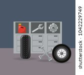 car service design | Shutterstock .eps vector #1042229749