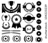 set of achievement award...   Shutterstock .eps vector #104223239