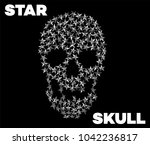 star skull. vector punk star... | Shutterstock .eps vector #1042236817
