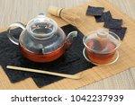 japanese nori seaweed tea...   Shutterstock . vector #1042237939