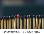 match standing out from others... | Shutterstock . vector #1042247887