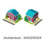 set vector isolated isometric... | Shutterstock .eps vector #1042250329