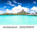 bora bora island  french... | Shutterstock . vector #1042250935