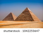 giza pyramids  cairo  egypt | Shutterstock . vector #1042253647