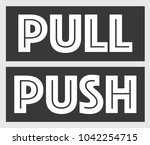 push and pull icon  vector ... | Shutterstock .eps vector #1042254715