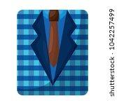 retro checkered shirt and...   Shutterstock .eps vector #1042257499