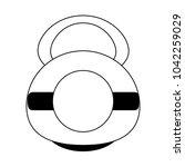 kettlebell weight symbol | Shutterstock .eps vector #1042259029