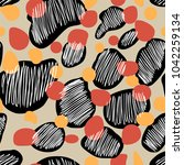 seamless vector pattern with... | Shutterstock .eps vector #1042259134