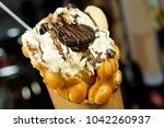 bubble waffle ice cream | Shutterstock . vector #1042260937