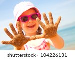little girl have a good time of ... | Shutterstock . vector #104226131