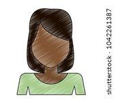 woman faceless profile | Shutterstock .eps vector #1042261387