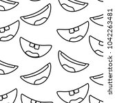 pattern with mouths face... | Shutterstock .eps vector #1042263481