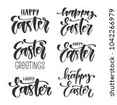 vector set of hand written... | Shutterstock .eps vector #1042266979