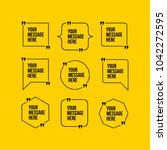 innovative vector quotation... | Shutterstock .eps vector #1042272595