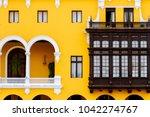 balconies of the building of...   Shutterstock . vector #1042274767