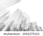 abstract architecture 3d | Shutterstock .eps vector #1042275121