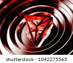 red tron crypto currency symbol ... | Shutterstock . vector #1042275565