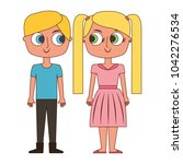 brother and sister happy... | Shutterstock .eps vector #1042276534