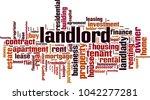 landlord word cloud concept....   Shutterstock .eps vector #1042277281