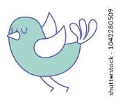cute cartoon bird animal beauty | Shutterstock .eps vector #1042280509