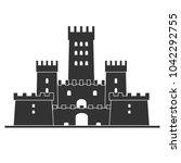 medieval castle icon vector.... | Shutterstock .eps vector #1042292755