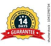 14 days money back illustration | Shutterstock .eps vector #1042298734