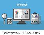 statistics data business image   Shutterstock .eps vector #1042300897