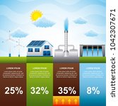 infographic alternative power... | Shutterstock .eps vector #1042307671