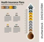 an image of a health insurance...   Shutterstock .eps vector #1042313584