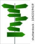 vector street signs. vector... | Shutterstock .eps vector #1042319419