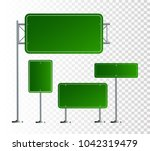 set of road signs isolated on... | Shutterstock .eps vector #1042319479