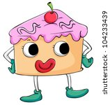 illustration of comical sweet... | Shutterstock .eps vector #104233439