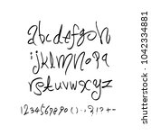 vector fonts   handwritten... | Shutterstock .eps vector #1042334881