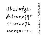 vector fonts   handwritten... | Shutterstock .eps vector #1042334905