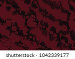 red wet abstract paint leaks...   Shutterstock . vector #1042339177