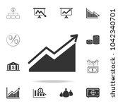 growing graph icon. detailed... | Shutterstock .eps vector #1042340701